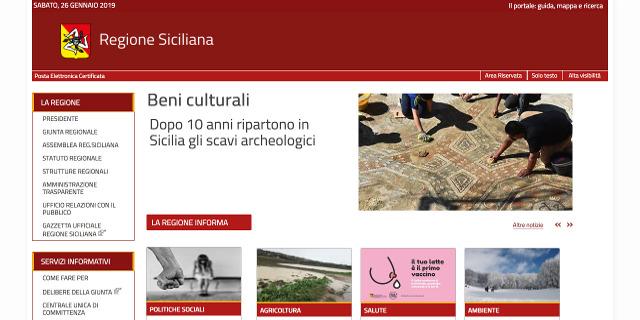 Sito Regione Siciliana 2019