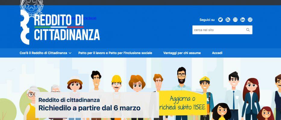 sito reddito di cittadinanza
