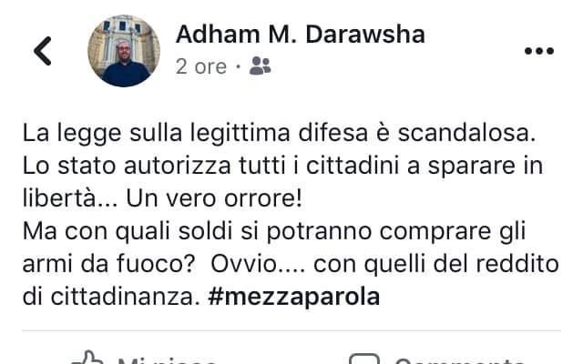il post fd di darawsha scatena polemiche politiche