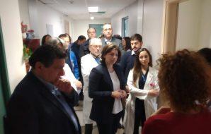 Un momento della visita dell'onorevole Carolina Varchi