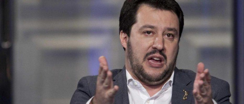 salvini commenta la vittoria della lega alle auropee