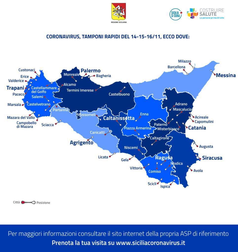 Cartina Sicilia Termini Imerese.Coronavirus Tamponi Gratuiti Ai Drive In Dove Farli E Come Prenotarsi Video Mappa L Opinione Della Sicilia
